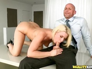 luscious yellowish hair dolly Annika Albrite grabs her sissy licked by Johnny Sins long ago that babe munches his upstanding pecker