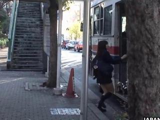 oriental Schoolgirl Yayoi Yoshino doomed in bus uncesnored