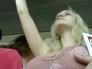 Bus Touch - jugs Groping (fake)