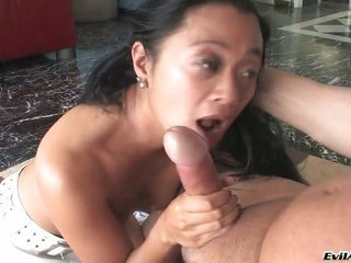 asian favourable Starr makes Joey Silveras steely fuck pole vanish in her kisser in inviting ecstasy