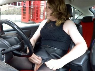 voluptuous tranny masturbating out side the post office
