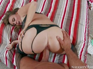 fascinating Alexis Adams in hot swarthy undergarment is wanting to be fucked. that chick takes immalleable dick in her cavity as well as after in her