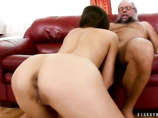 bright-haired Ashley does her second to none to make gent cum in hardcore movement