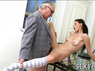 professor is beating juvenile playgirl