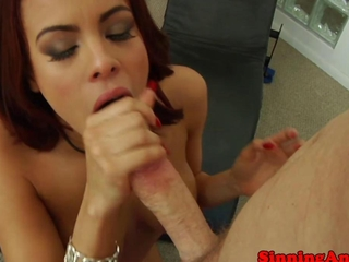 Redhead passionate hooker getting drilled