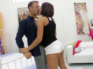 gorgeous Lucie is using her excellent cavity to fulfillment Rocco Siffredis hungry shlong