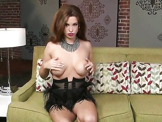 Sabrina Maree with mountainous love muffins besides smooth-faced cooter can't live a day out of dildoing her snatch