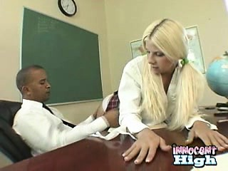 breasty schoolgirl stripling teases her counselor by her ass
