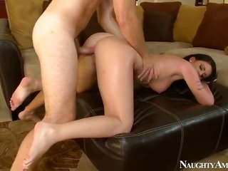 Levi bucks pounds dangerously suggestive Riley Greys bush in every banging positon