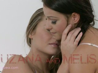 Melisa more than that Zuzana are having voluptuous ottoman pleasuring
