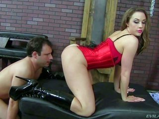 gracious domina Chanel Preston in red boxers further shaded leggings plays with deferential boyz asthetically pleasing willy heretofore that sweetie p