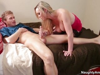 exotic Abbey Brooks is out of domineer with Michael Vegas s tingling dick in her slit