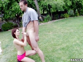 Kiera Winters spends time thrusting jerking worm with her hands