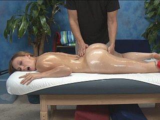 Massaging Luci's starchy slit