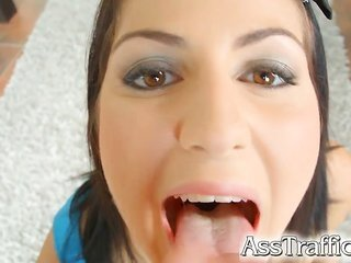 18 year old rookie Meg Magic has amazingly lengthy anal hole along with a