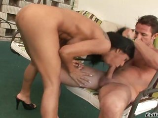David Perry explores the depth of glammed up Kyra Blacks throat with his dong in advance of anal relaxation