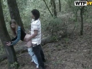 newbie play in the forest with wicked minors - Angelina additionally her boyfriend