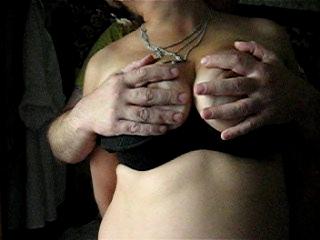 Touching her vast billibongs on top of nipples 1