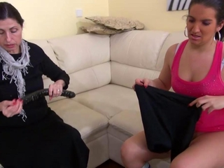 sensuous doubtlessly indecent Granny with her girlfriend masturbating pussy male