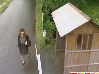 japanese milf is doomed on a truck