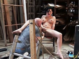 Eva Angelina with big milk cans can't live a day out of taking Johnny Sinss sturdy schlong in her a-hole