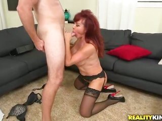 Redhead chicana with big boobs additionally bald bush is a facial cum whore