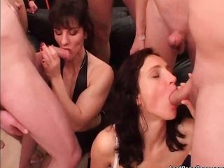 dainty appealing redhead cultured sluts with chunky pointer sisters are so horny