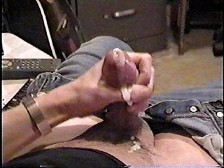 other person old VHS of me jerking my cock on top of cumming