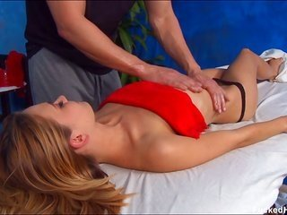 charming, sweet 18 year old receives owned rough by her massage therapist