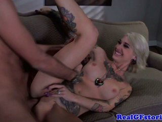 Real cougar exgf with tatts a-hole fucked