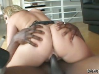 seductive together with remarkable sable babe gets chubby chocolate dick in gazoo