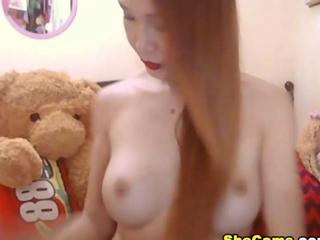 exquisite curvaceous FTM Masturbating her vulgar Cock